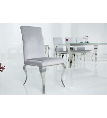 Scaun baroc modern gri argintiu
